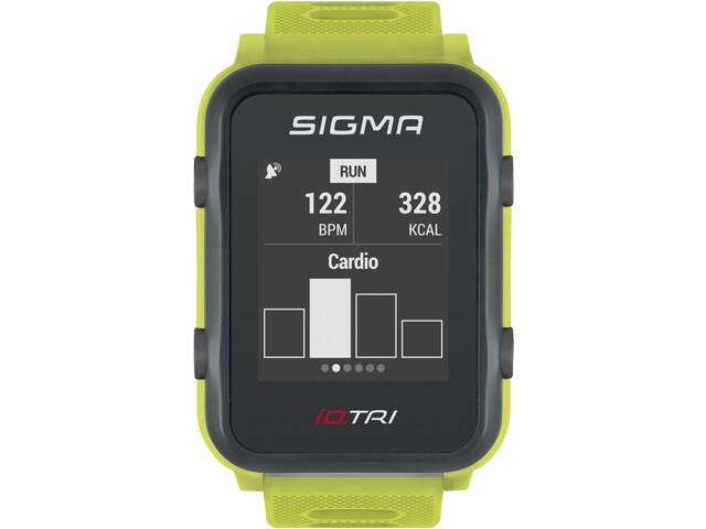 SIGMA SPORT iD.TRI Montre Multisport Kit, neon green
